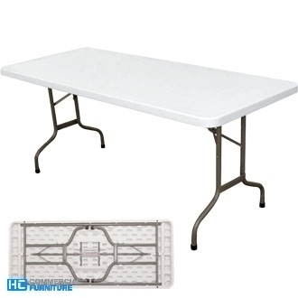 Bolero 6ft White Foldaway Table