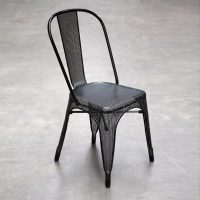Black Mesh Metal Chair