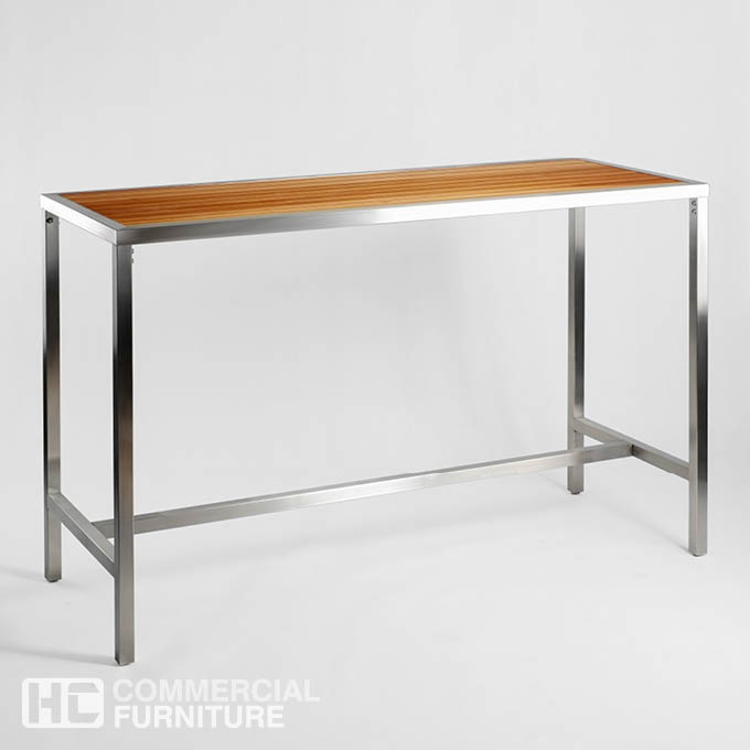 DB305 Teak Stainless Steel Dry Bar Table HCCF Commercial