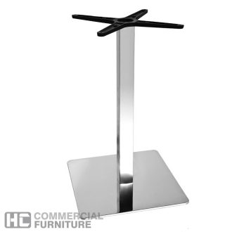 Milano Stainless Steel Square Table Base