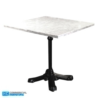 MarbleSquareTable HCCF Commercial Furniture - White marble restaurant table tops