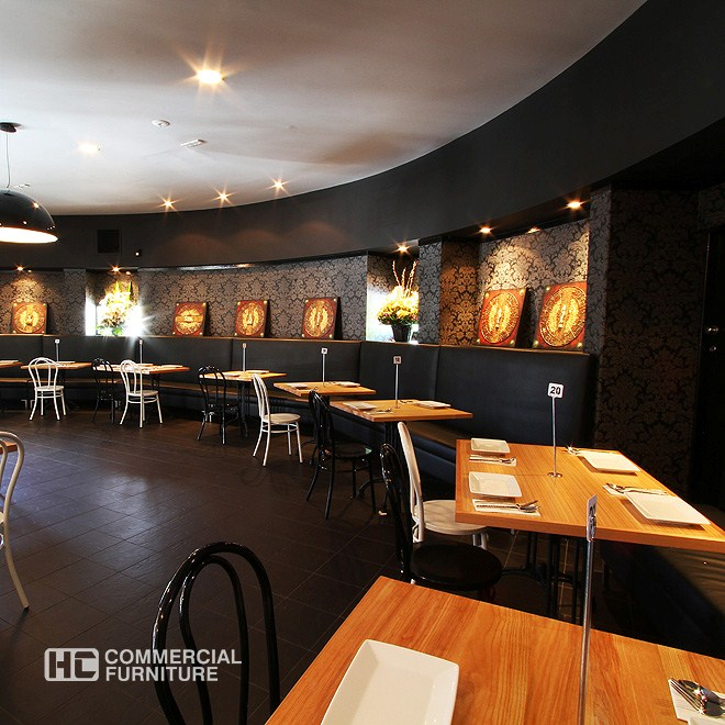 Tasmanian oak veneer dining table hccf commercial furniture