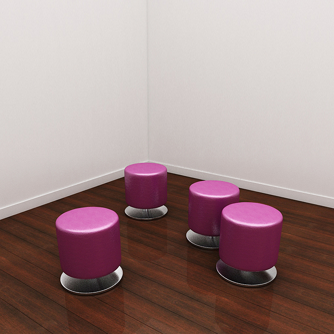 Plate Ottoman Magenta Hccf Commercial Furniture