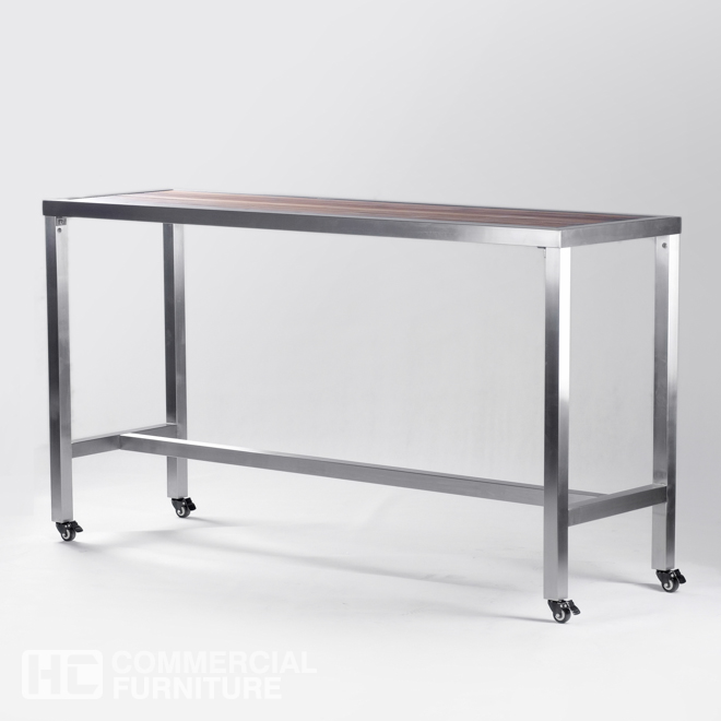 Db306 Movable Teak Dry Bar Table Hccf Commercial Furniture