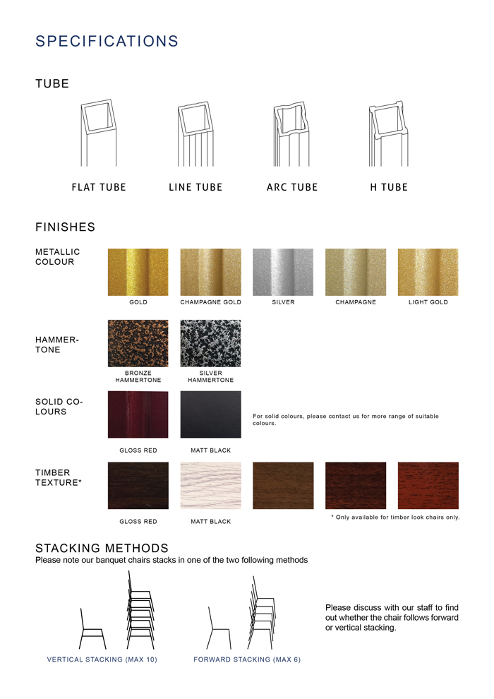 banquet-chairs-Specifications