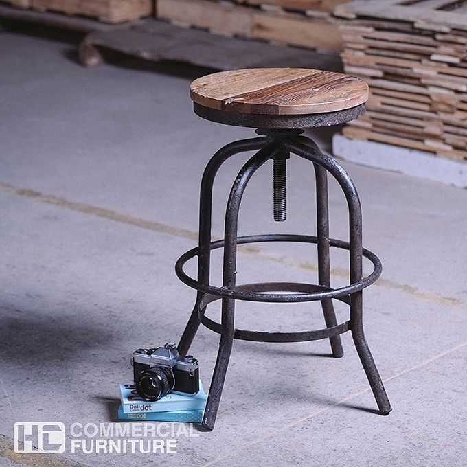 Noah industrial bar stool bs243 hccf commercial furniture for Industrial design bar stools