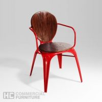 HCCF_Commercial_Furniture_Metal_And_Timber_Dining_Chair_MT533M