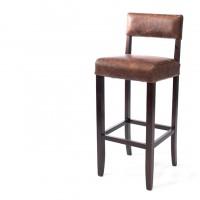 HCCF_Commercial_Furniture_Upholstered_Vintage_Leather_Timber_BarStool_VL042_Havana