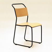 HCCF_Commercial_Furniture_Metal_And_Timber_Dining_Chair_Black_Oak_MT517