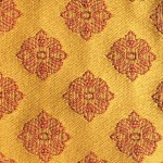 Gold and Red SF107-4 Fabric