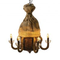 Hesian Bag Chandelier with fan