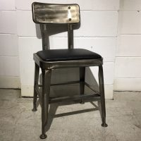 HCCF_Commercial_Furniture_Clearance_Upholstered_Dining_Chair_Metal_Gunmetal_MC328