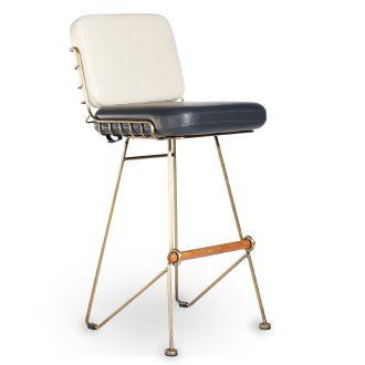 HCCF_Commercial_Furniture_Upholstered_Bar_Stool_Antique_Brass_Frame_BS960