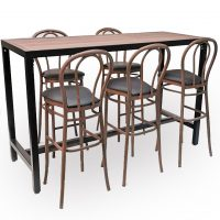 HCCF Commercial Furniture Dry Bar Set 13